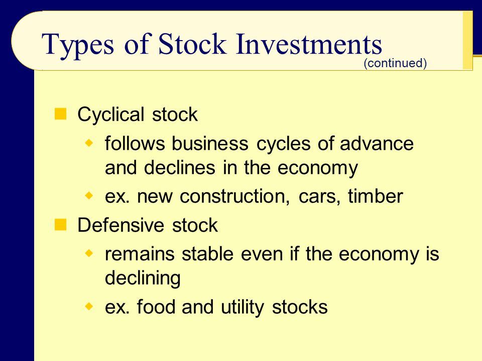Types of Stock Investments