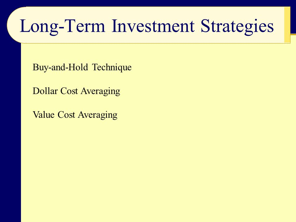 Long-Term Investment Strategies