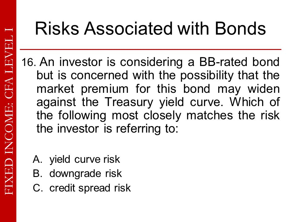 Risks Associated with Bonds