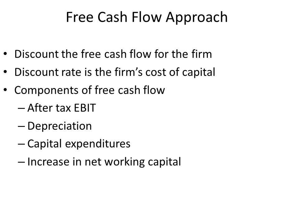 Free Cash Flow Approach