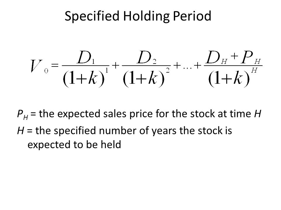 Specified Holding Period