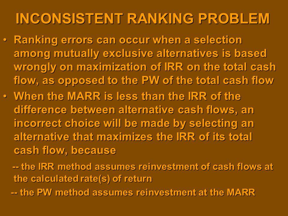 INCONSISTENT RANKING PROBLEM
