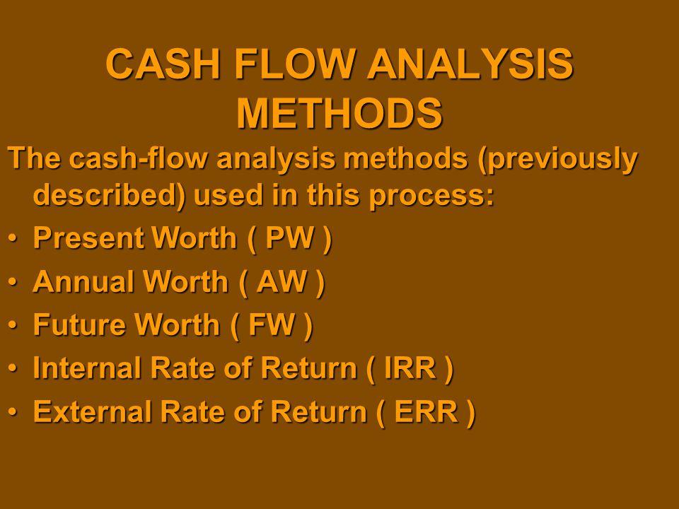 CASH FLOW ANALYSIS METHODS