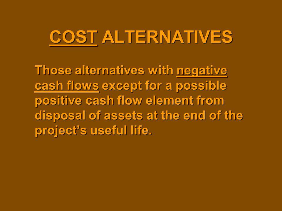 COST ALTERNATIVES