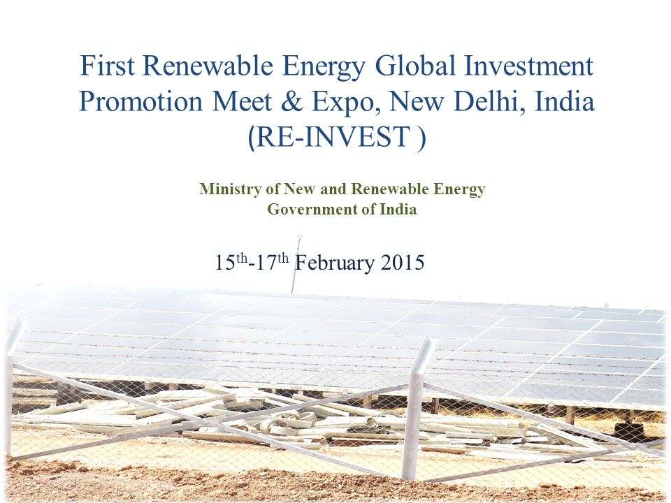 Ministry of New and Renewable Energy Government of India