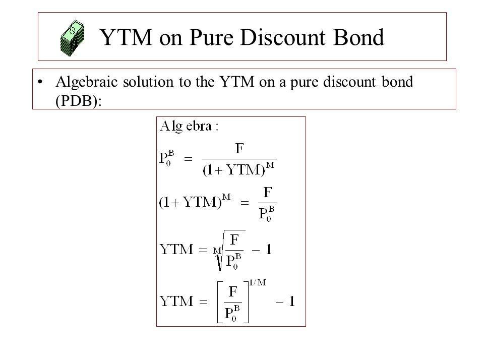 YTM on Pure Discount Bond