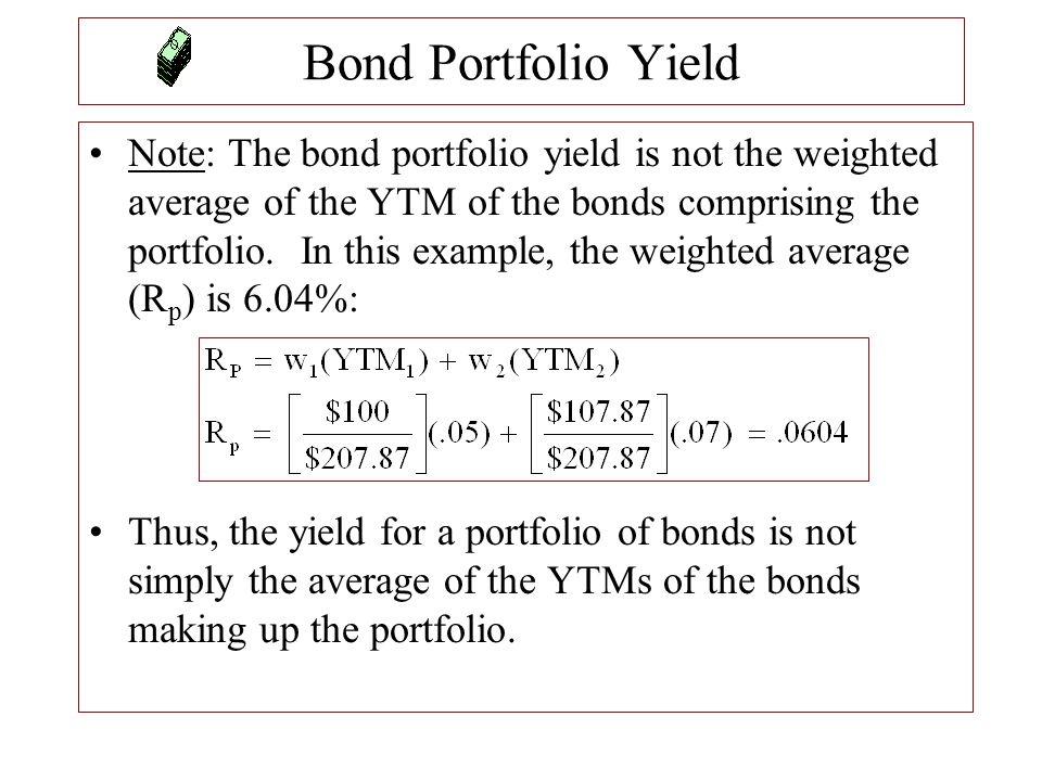 Bond Portfolio Yield