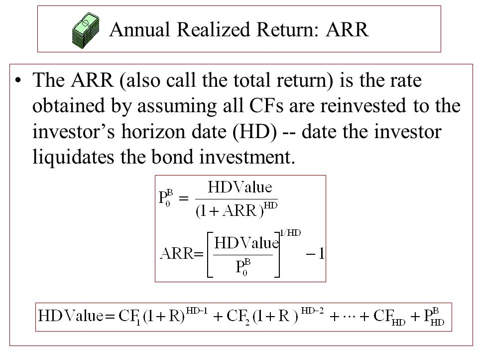 Annual Realized Return: ARR