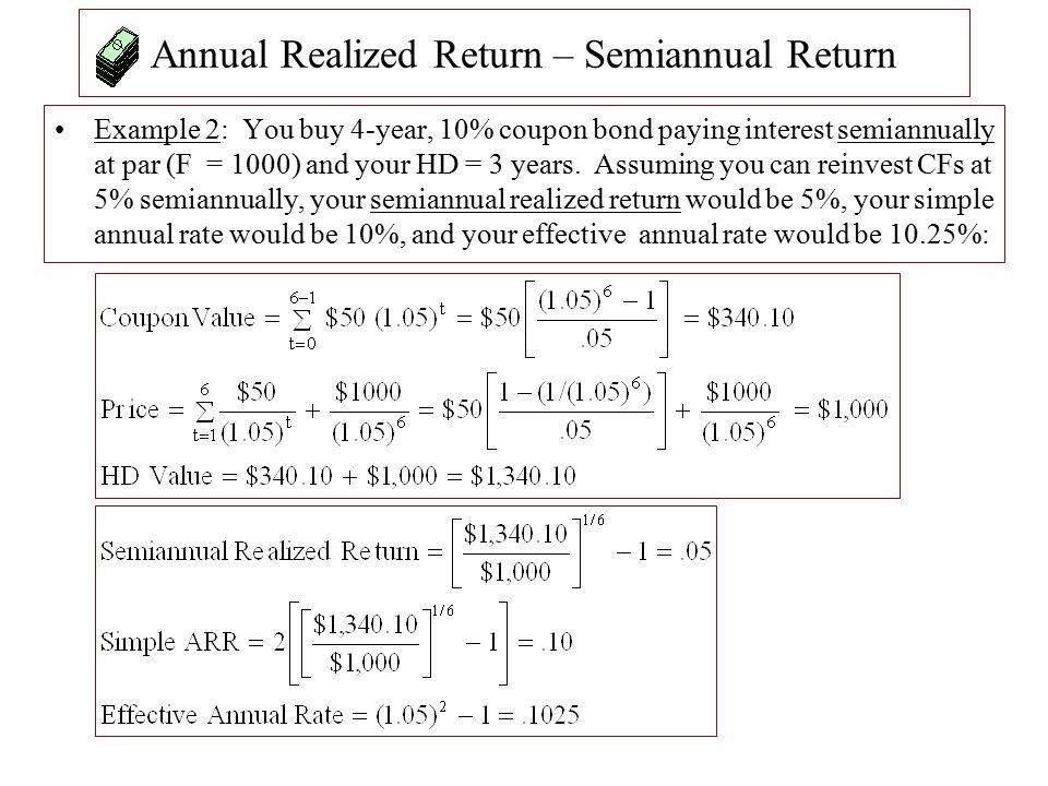 Annual Realized Return – Semiannual Return