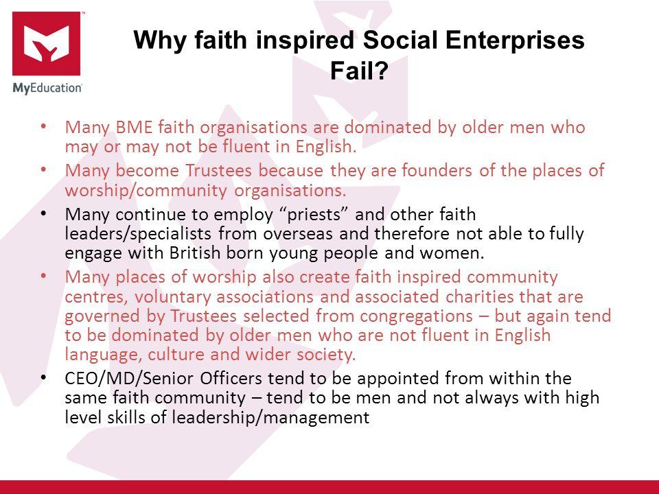 Why faith inspired Social Enterprises Fail
