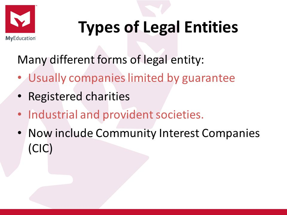 Types of Legal Entities