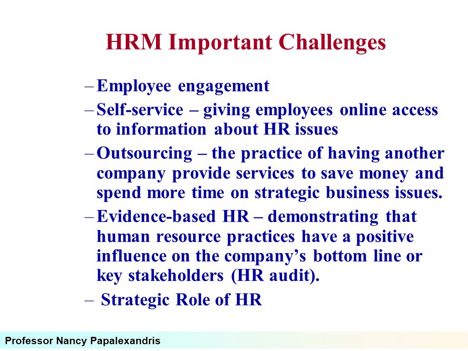 Human Resource Management Challenges