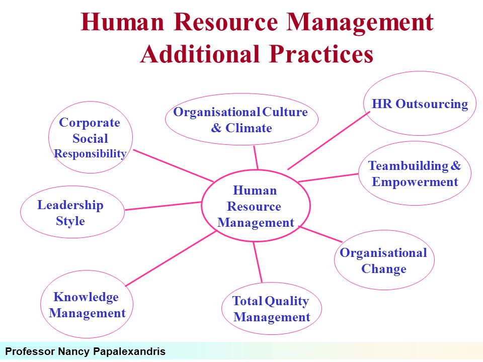 Human Resource Management Additional Practices