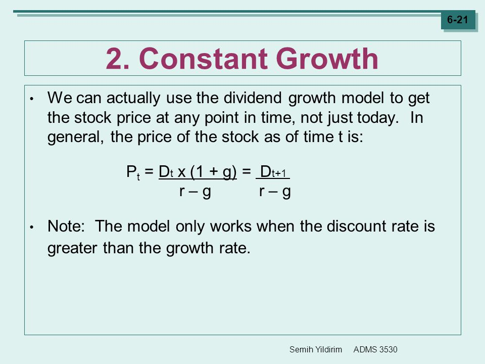 2. Constant Growth