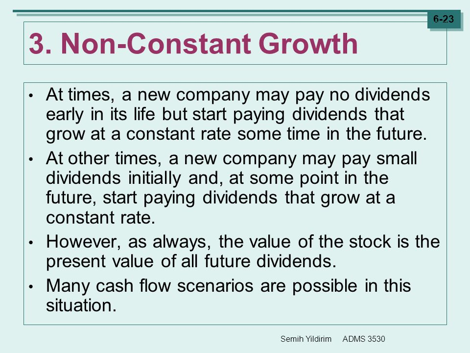 3. Non-Constant Growth