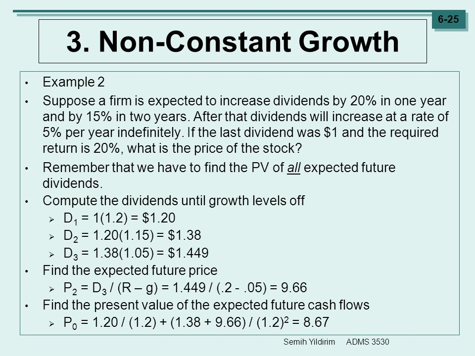 3. Non-Constant Growth Example 2