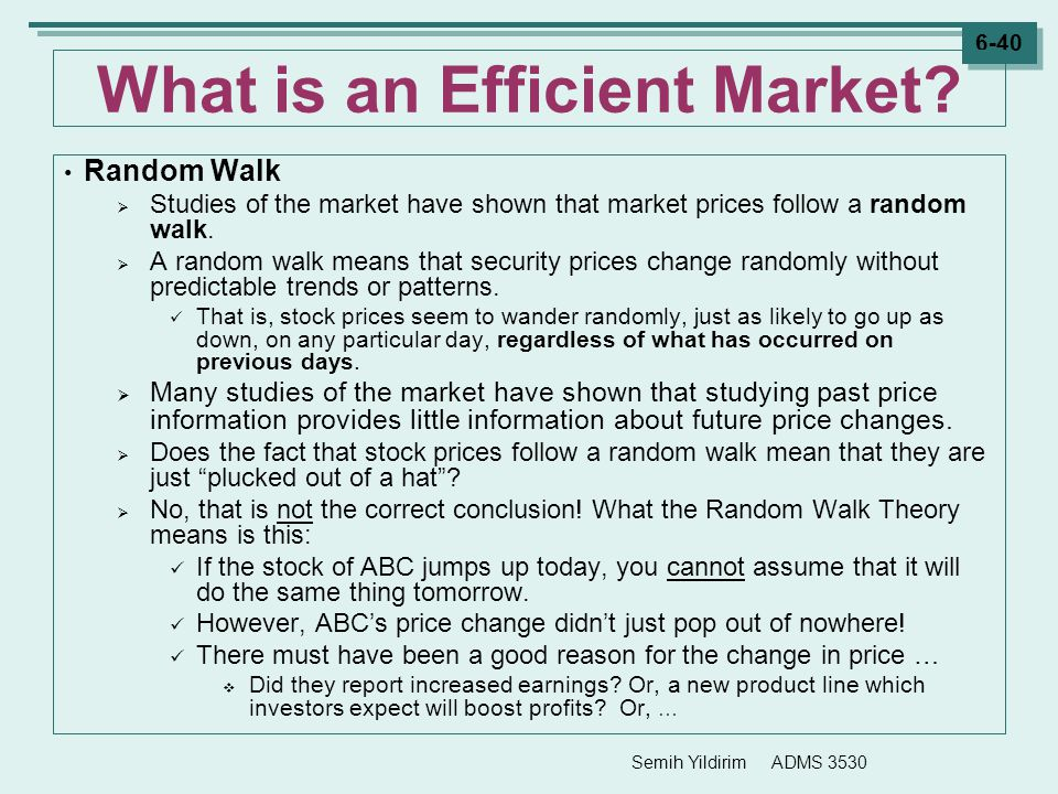 What is an Efficient Market