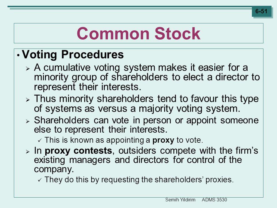 Common Stock Voting Procedures