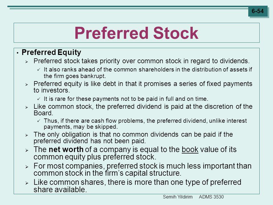 Preferred Stock Preferred Equity