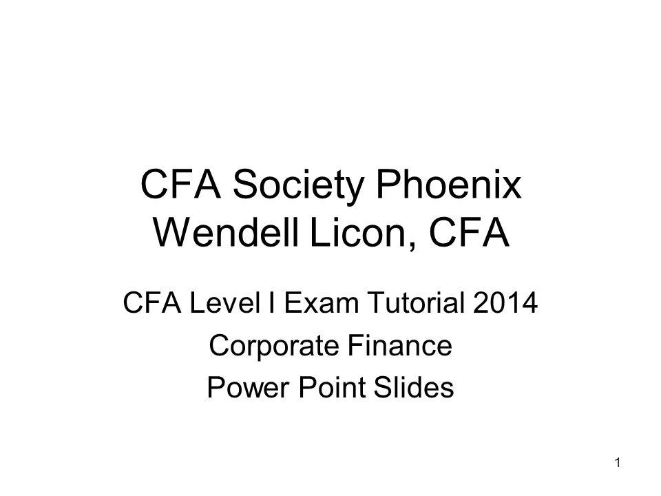 CFA Society Phoenix Wendell Licon, CFA