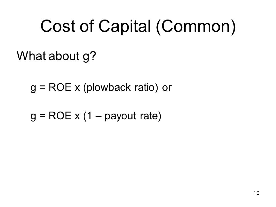 Cost of Capital (Common)