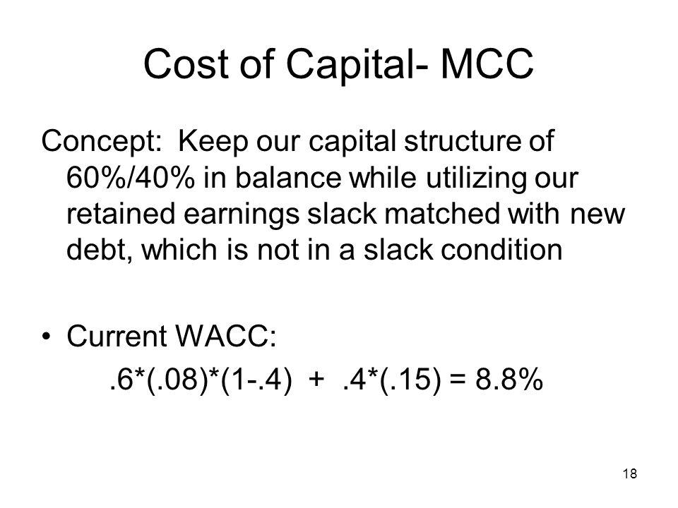 Cost of Capital- MCC