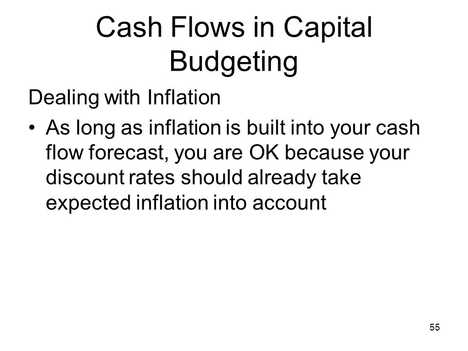 Cash Flows in Capital Budgeting