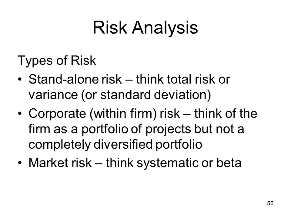 Risk Analysis Types of Risk
