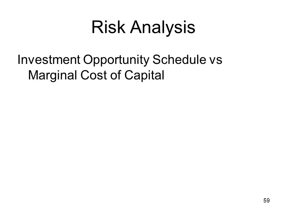 Risk Analysis Investment Opportunity Schedule vs Marginal Cost of Capital