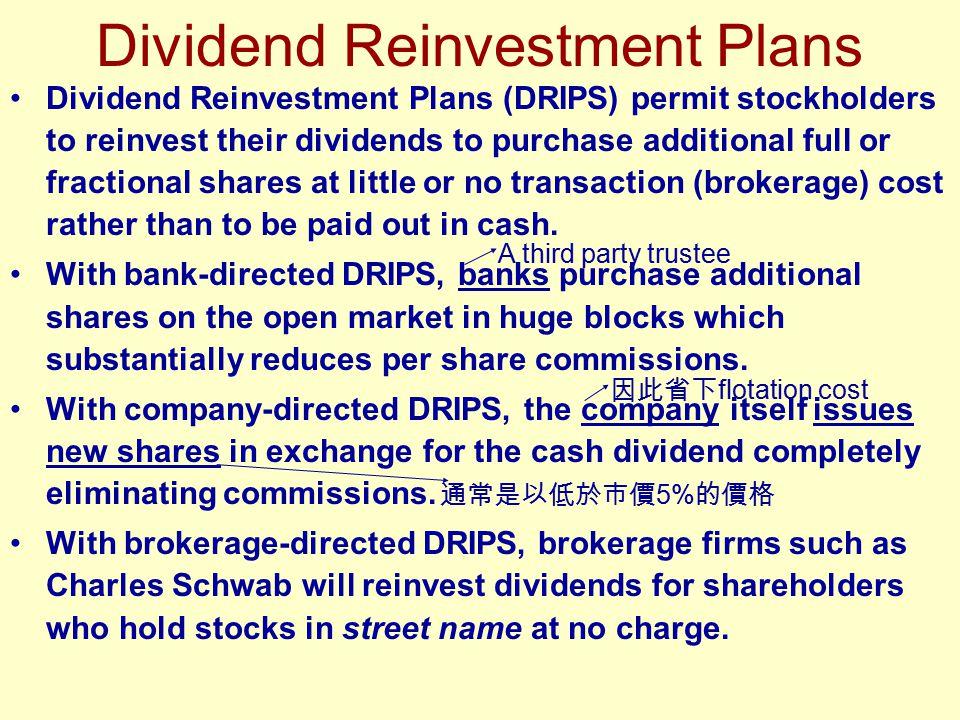 Dividend Reinvestment Plans