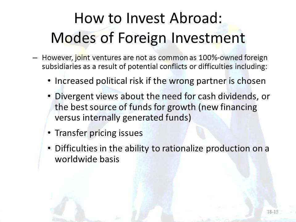 How to Invest Abroad: Modes of Foreign Investment