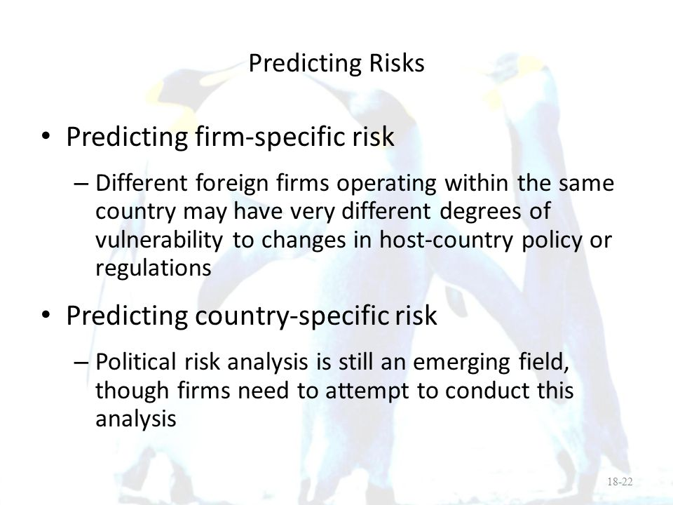 Predicting firm-specific risk