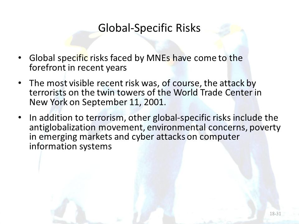 Global-Specific Risks
