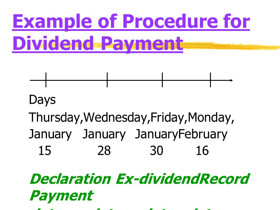 Example of Procedure for Dividend Payment