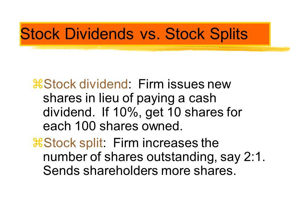 Stock Dividends vs. Stock Splits
