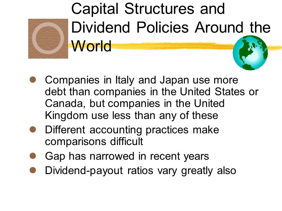 Capital Structures and Dividend Policies Around the World