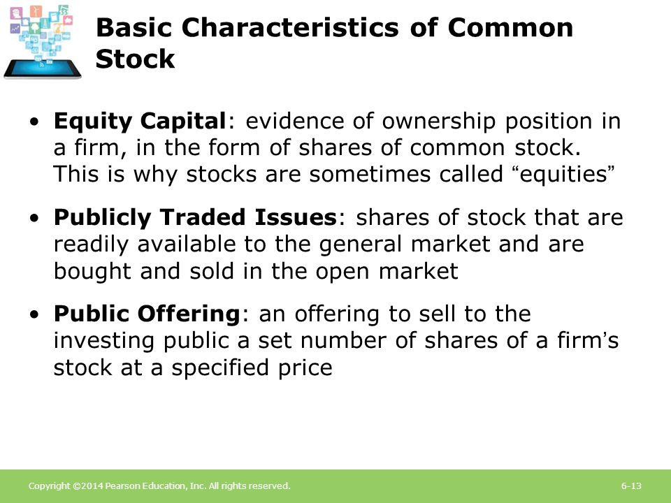 Basic Characteristics of Common Stock