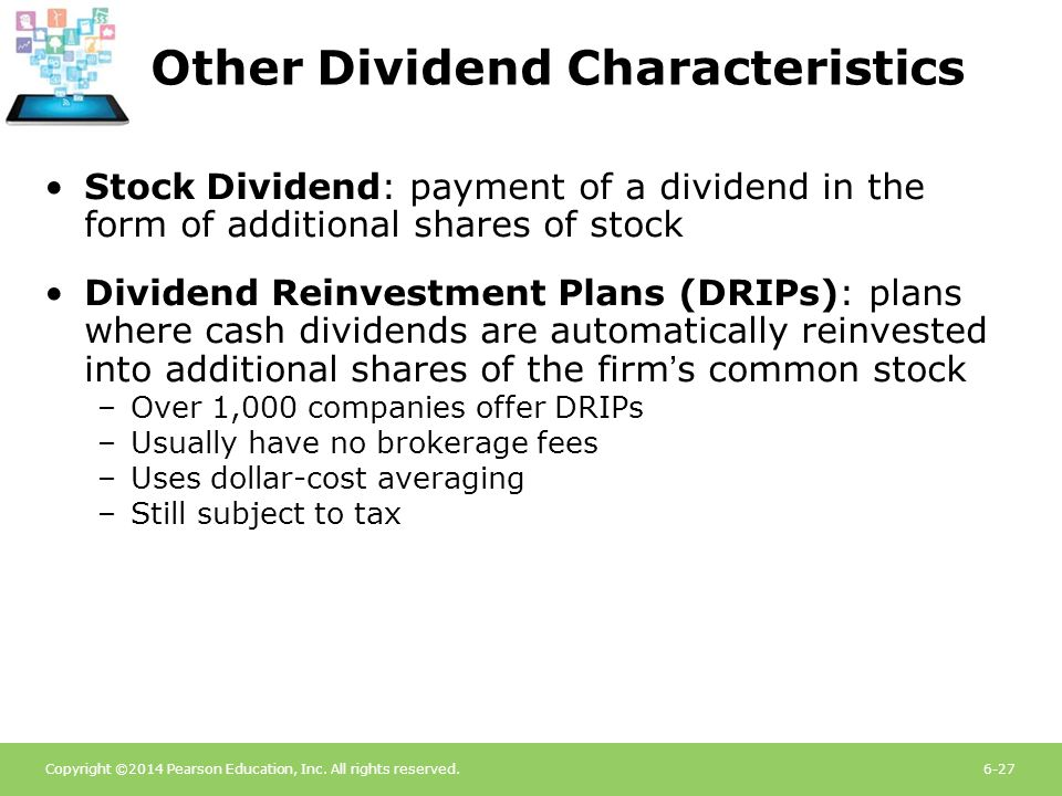 Other Dividend Characteristics
