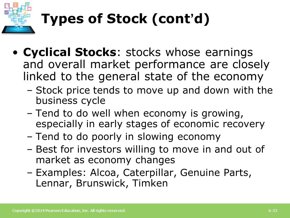 Types of Stock (cont'd)