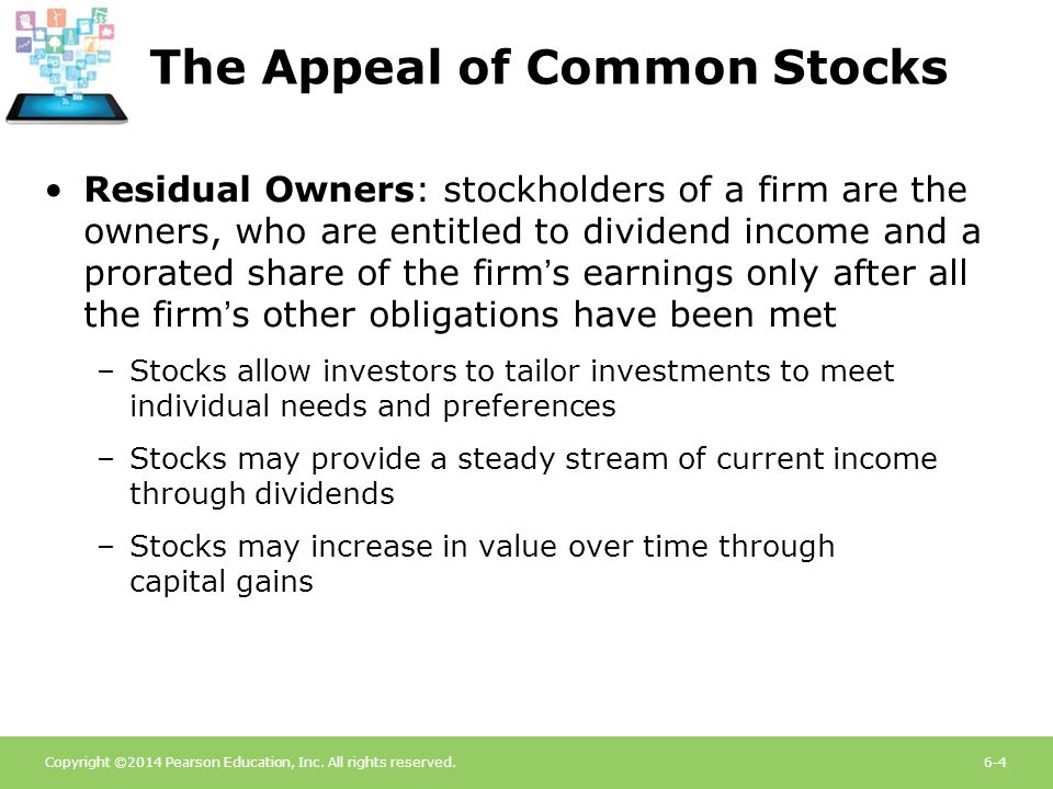 The Appeal of Common Stocks