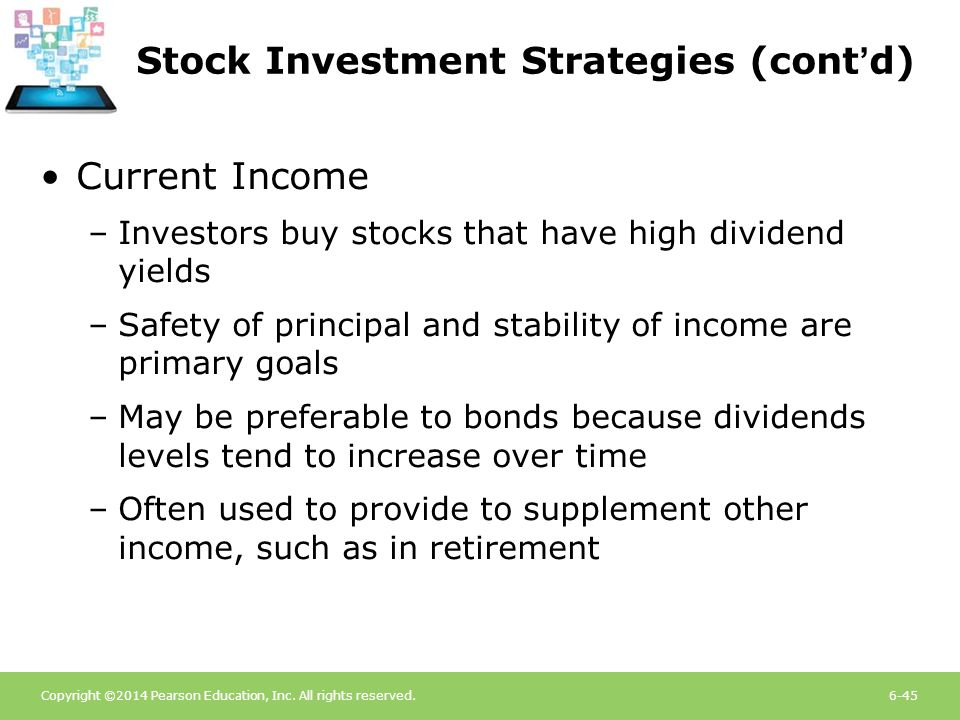 Stock Investment Strategies (cont'd)