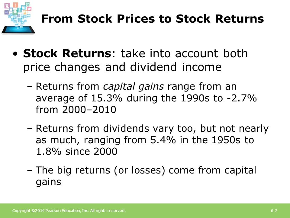 From Stock Prices to Stock Returns