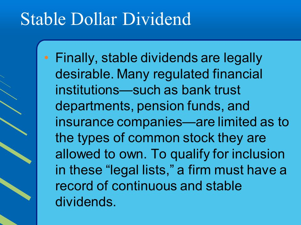 Stable Dollar Dividend
