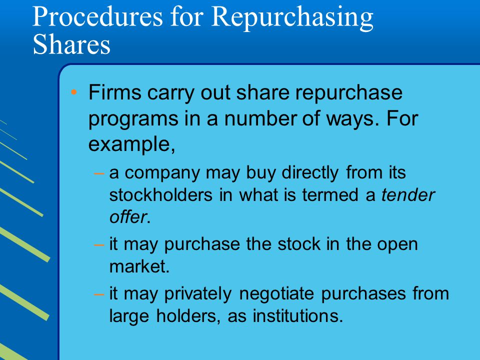 Procedures for Repurchasing Shares