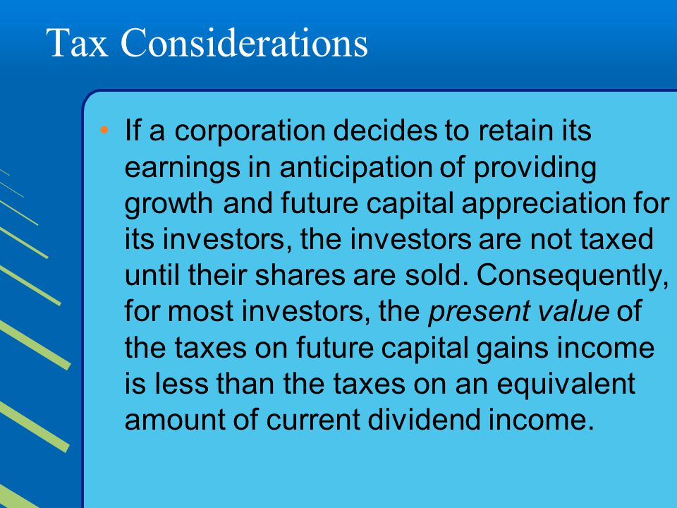 Tax Considerations