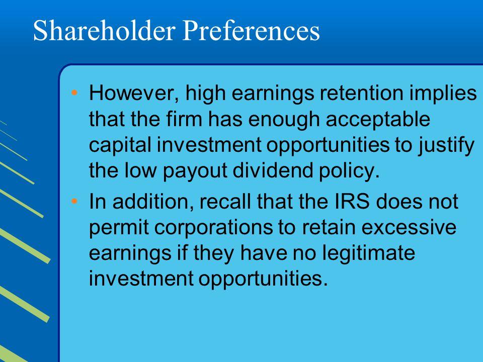 Shareholder Preferences