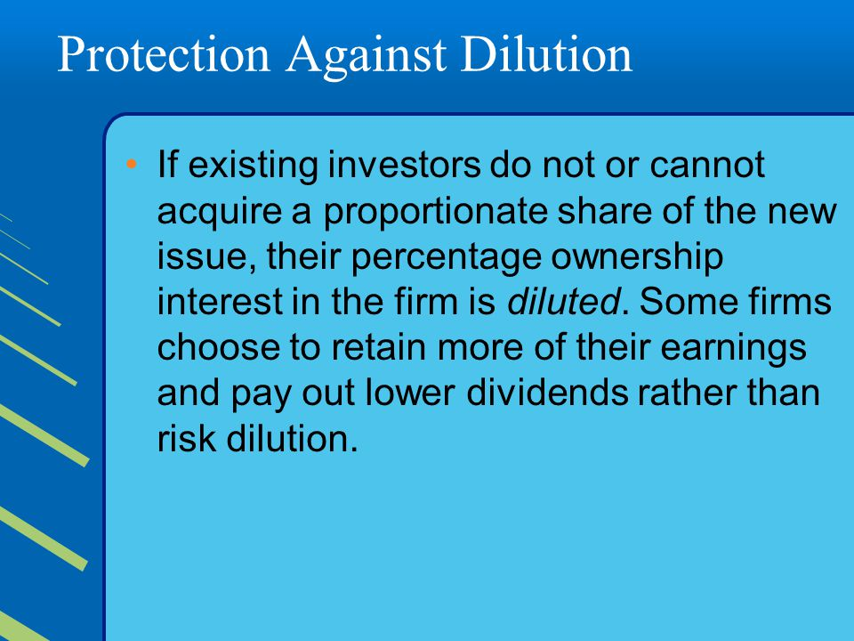 Protection Against Dilution