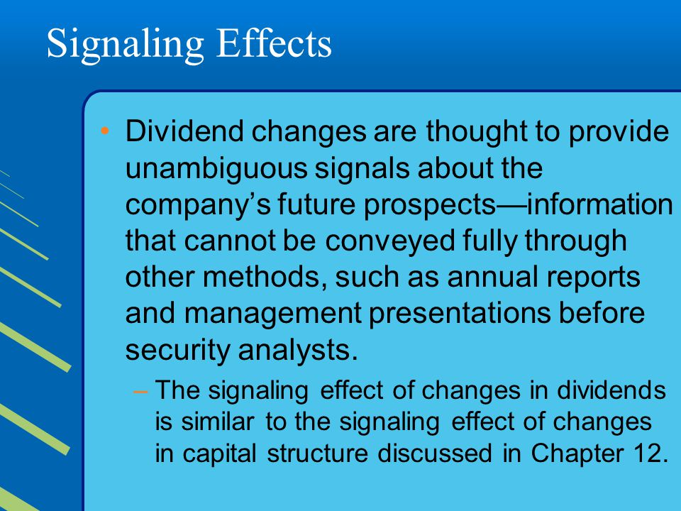 Signaling Effects