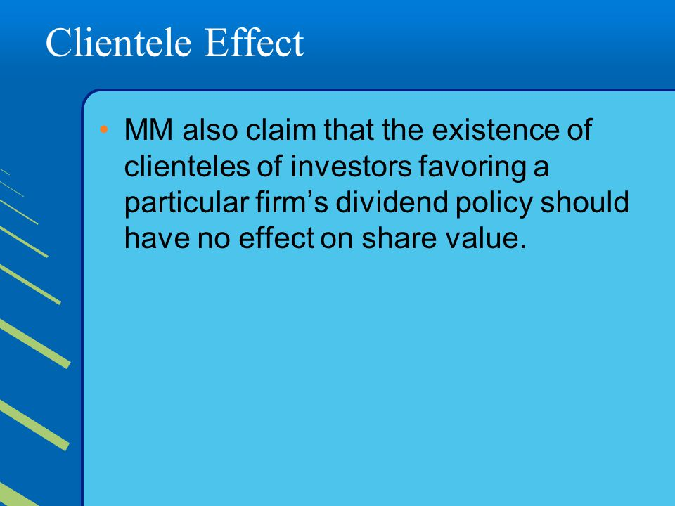Clientele Effect