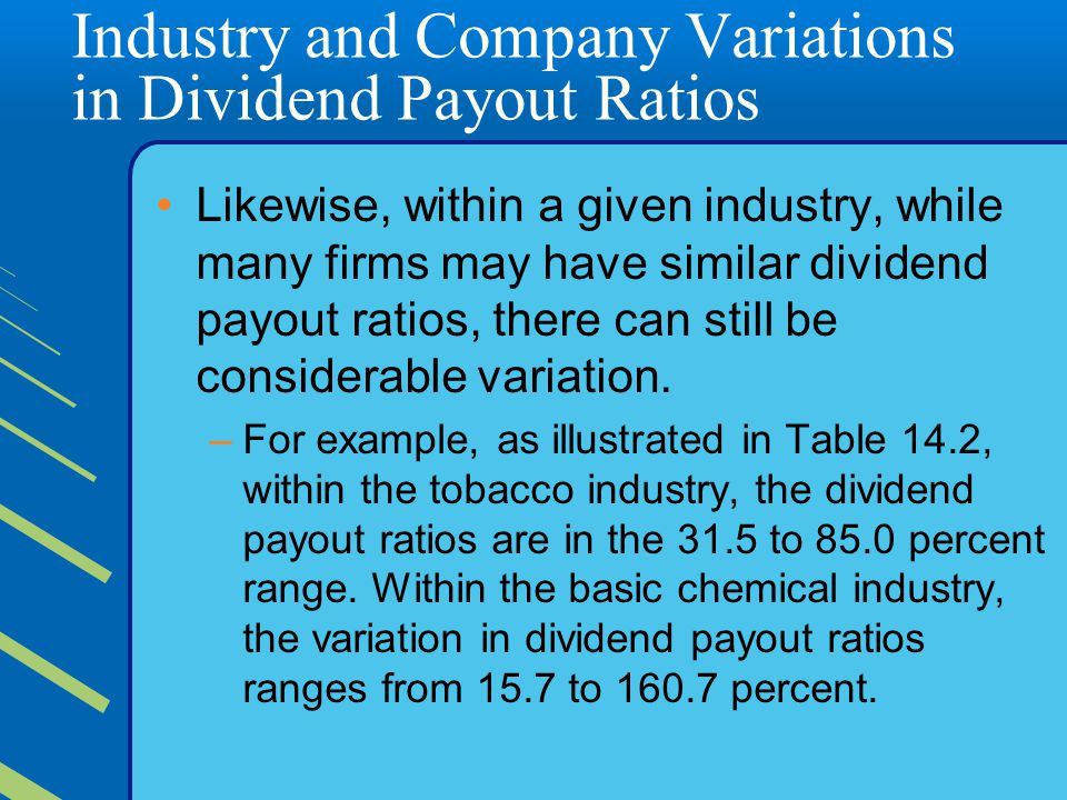 Industry and Company Variations in Dividend Payout Ratios